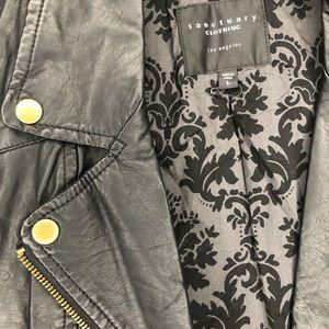 Sanctuary Jackets & Coats - Sanctuary Faux Leather Edgy Vest in Black